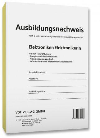 Ausbildungsnachweis Elektroniker Elektronikerin Bucher Vde Verlag