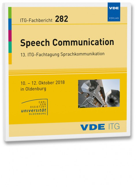 ITG-Fb  282: Speech Communication - BOOKS - VDE Publishing House