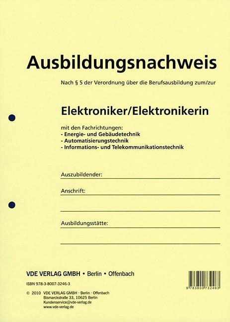 Berichtsheft Elektroniker