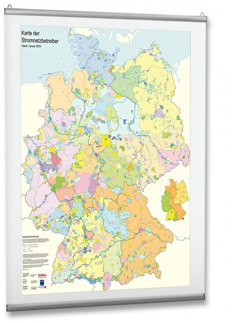 Karte Der Stromnetzbetreiber 2019 Bucher Vde Verlag