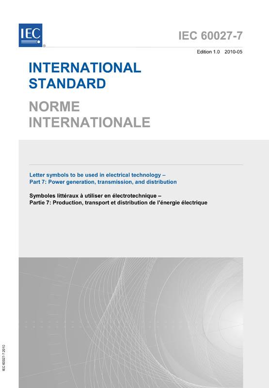 Iec 60027 7 2010 Iec Standards Vde Publishing House