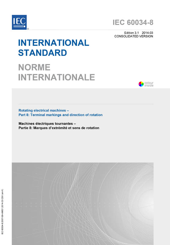 Cover IEC 60034-8:2007+AMD1:2014 CSV (Consolidated Version)