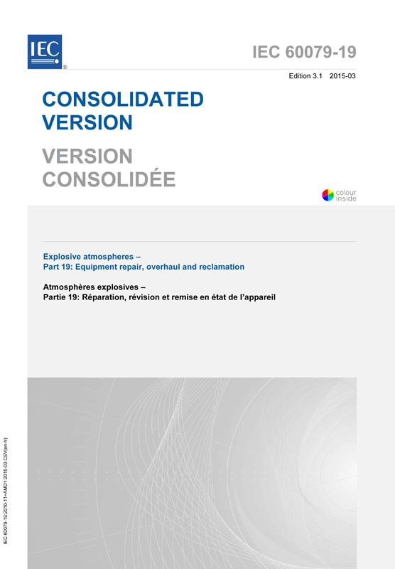 Cover IEC 60079-19:2010+AMD1:2015 CSV (Consolidated Version)