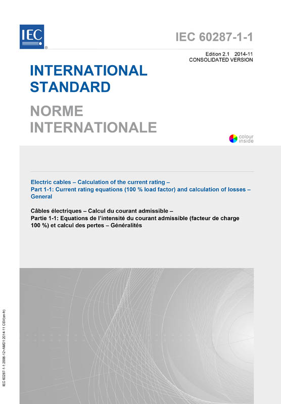 Cover IEC 60287-1-1:2006+AMD1:2014 CSV (Consolidated Version)