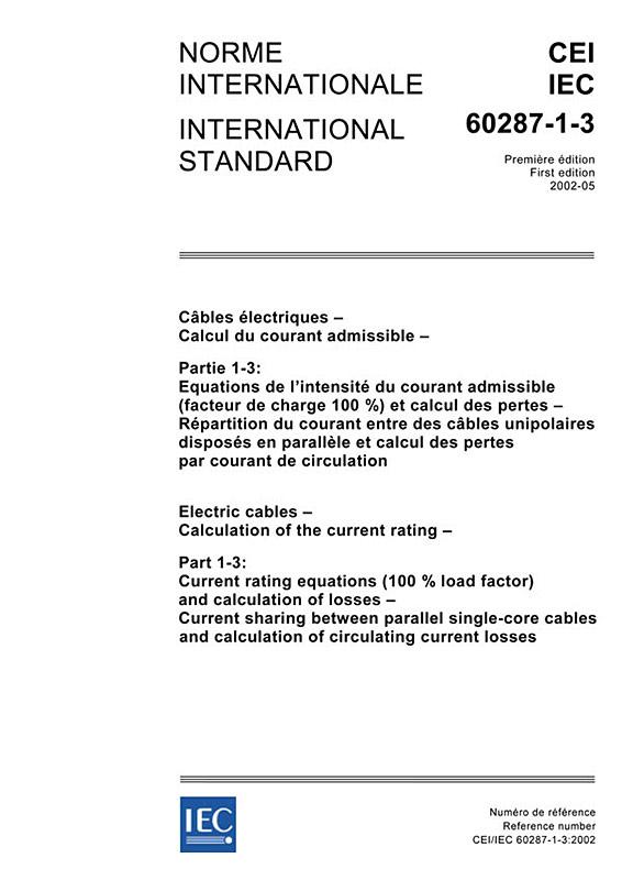 iec 60059 iec standard current ratings pdf