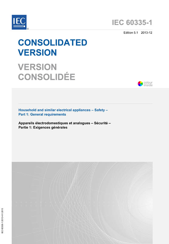 Cover IEC 60335-1:2010+AMD1:2013 CSV (Consolidated Version)