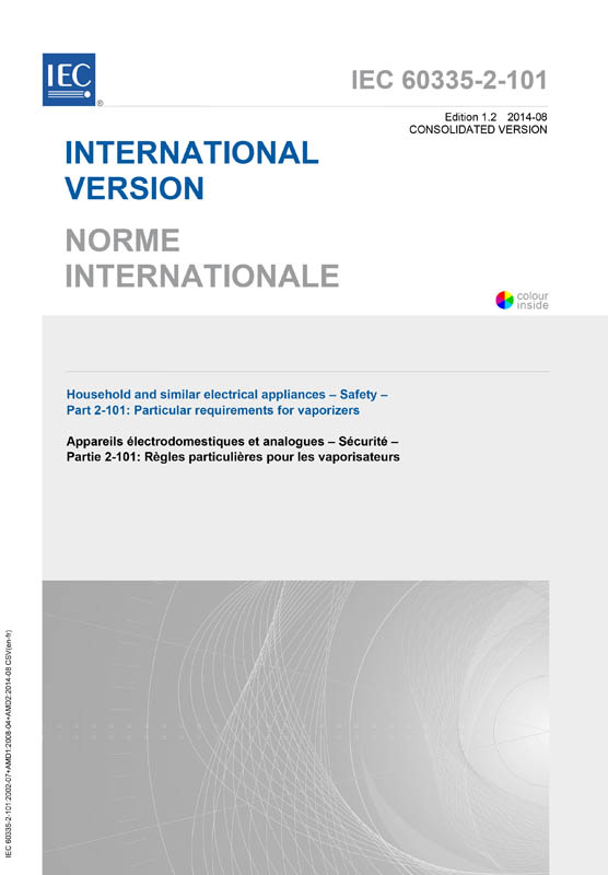 Cover IEC 60335-2-101:2002+AMD1:2008+AMD2:2014 CSV (Consolidated Version)