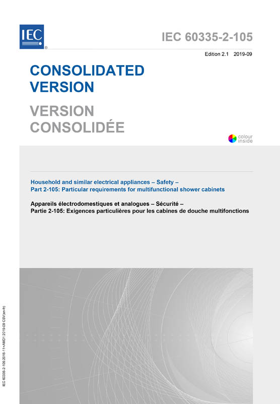 Cover IEC 60335-2-105:2016+AMD1:2019 CSV (Consolidated Version)