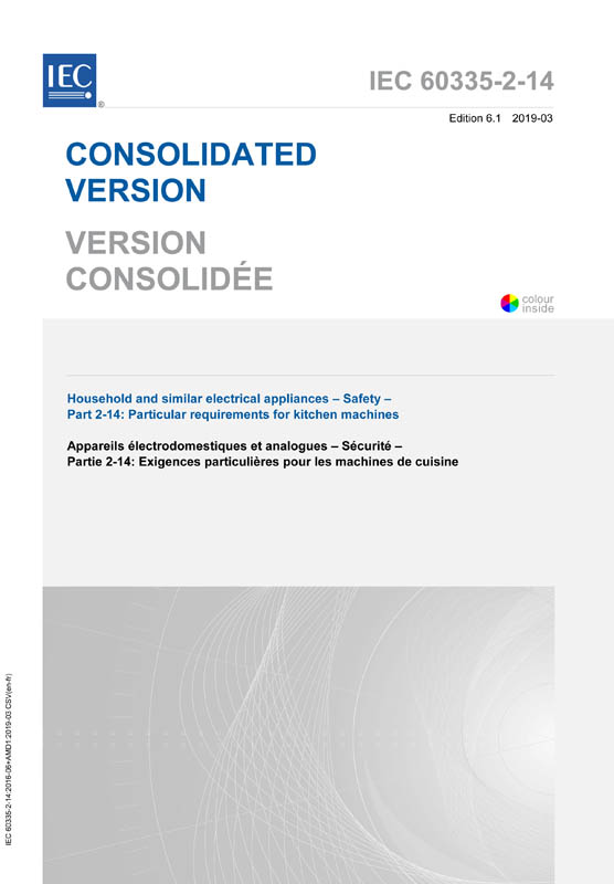 Cover IEC 60335-2-14:2016+AMD1:2019 CSV (Consolidated Version)