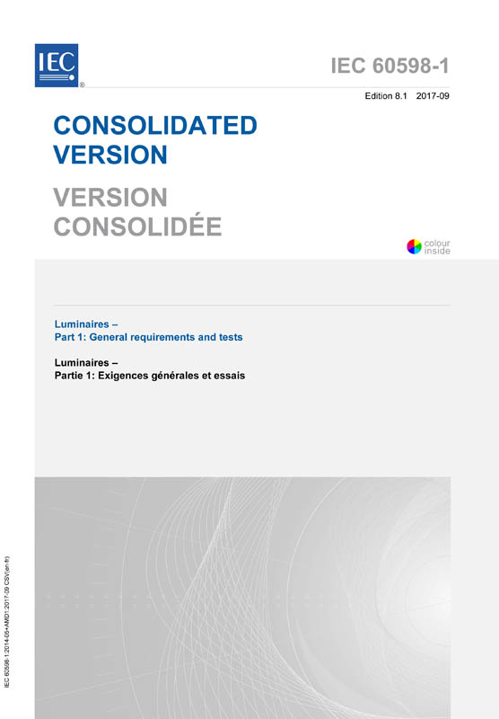 Cover IEC 60598-1:2014+AMD1:2017 CSV (Consolidated Version)