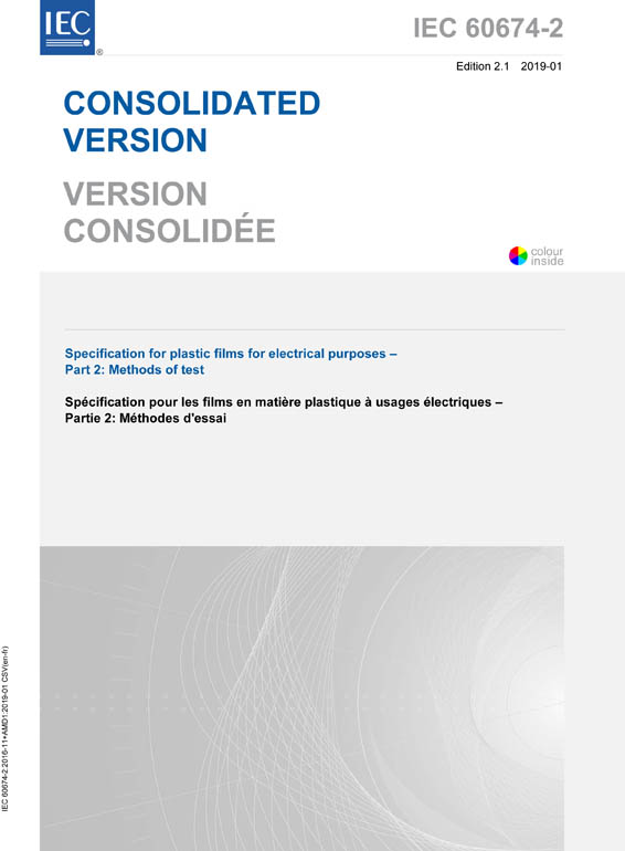 Cover IEC 60674-2:2016+AMD1:2019 CSV (Consolidated Version)