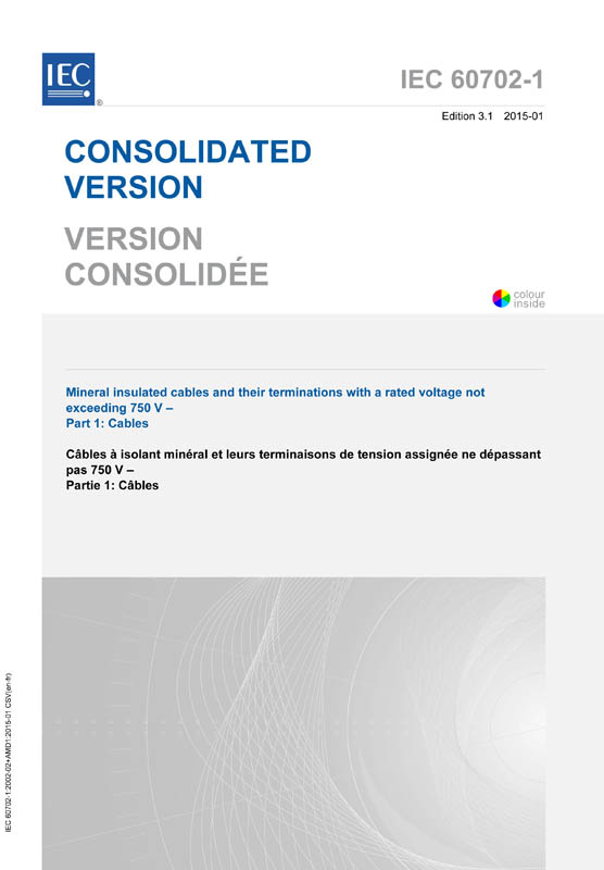 Cover IEC 60702-1:2002+AMD1:2015 CSV (Consolidated Version)
