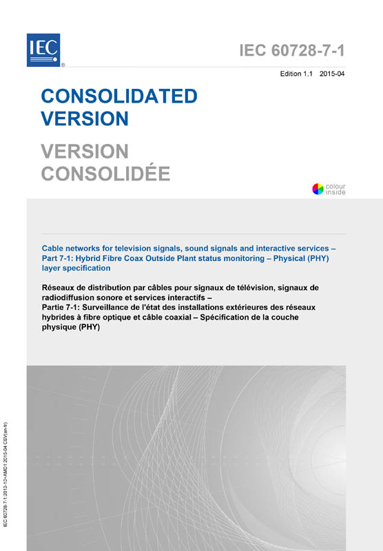 Cover IEC 60728-7-1:2003+AMD1:2015 CSV (Consolidated Version)