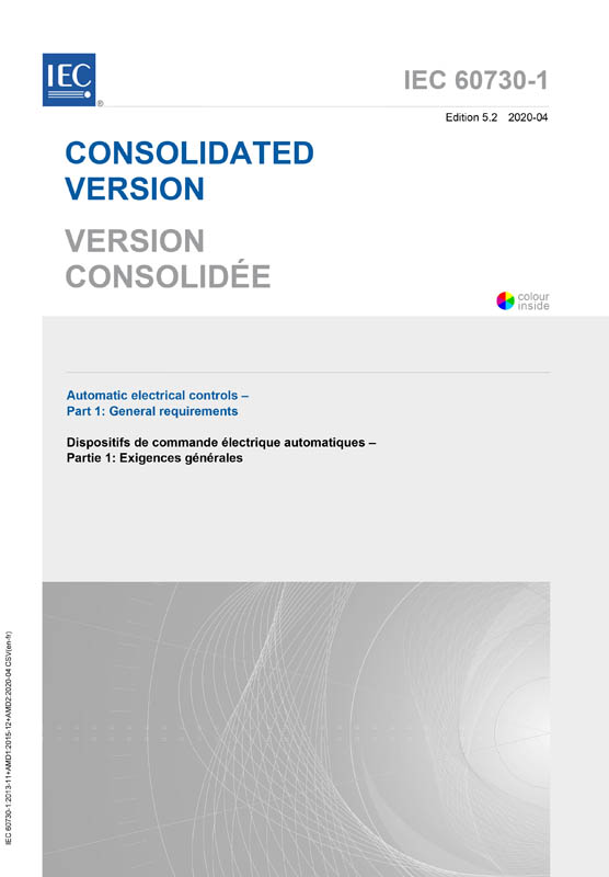 Cover IEC 60730-1:2013+AMD1:2015+AMD2:2020 CSV (Consolidated Version)
