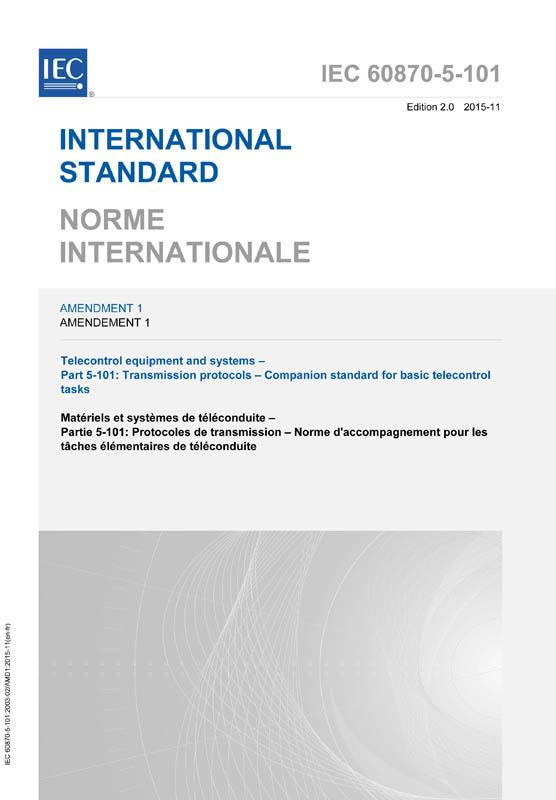 iec 60870 5 101 pdf_IEC 60870-5-101:2003/AMD1:2015 - IEC-Normen - VDE VERLAG