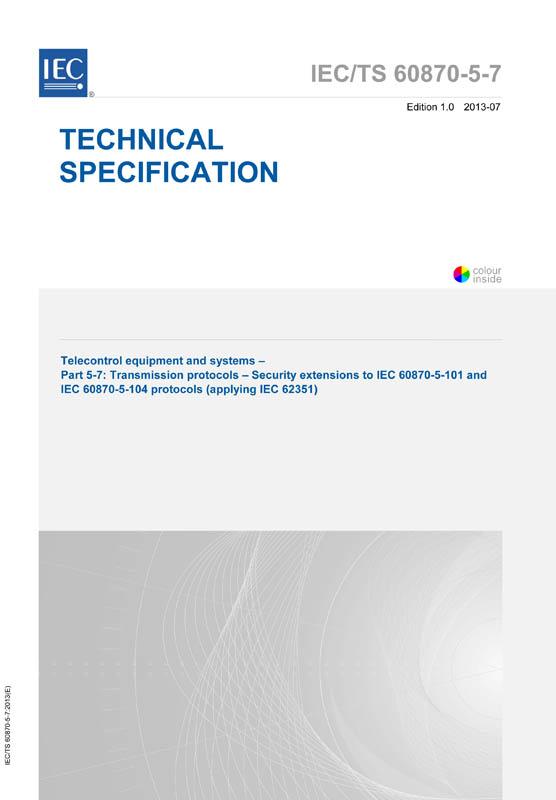 iec 60870 5 101 pdf_IEC TS 60870-5-7:2013 - IEC-Normen - VDE VERLAG