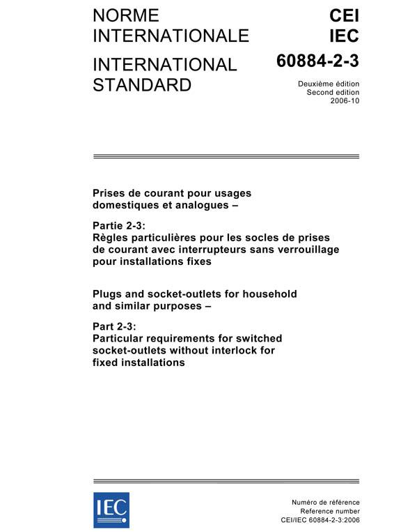 IEC 60884-2-3:2006