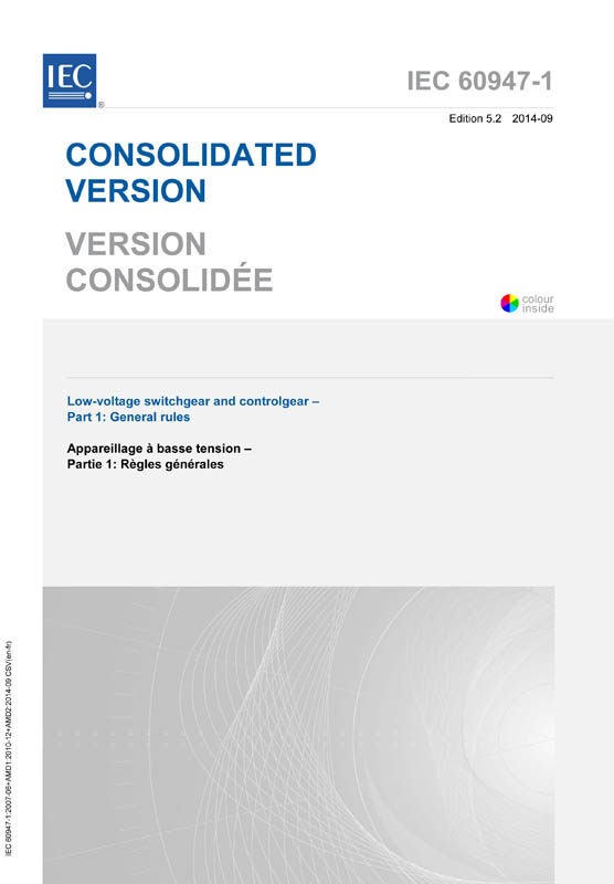 Cover IEC 60947-1:2007+AMD1:2010+AMD2:2014 CSV (Consolidated Version)