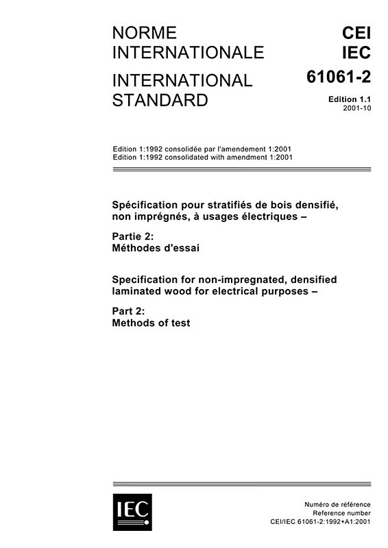 Cover IEC 61061-2:1992+AMD1:2001 CSV (Consolidated Version)
