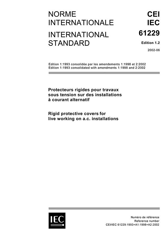 Cover IEC 61229:1993+AMD1:1998+AMD2:2002 CSV (Consolidated Version)