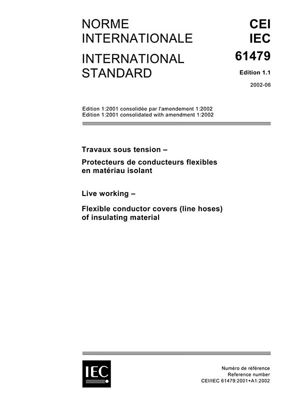 Cover IEC 61479:2001+AMD1:2002 CSV (Consolidated Version)