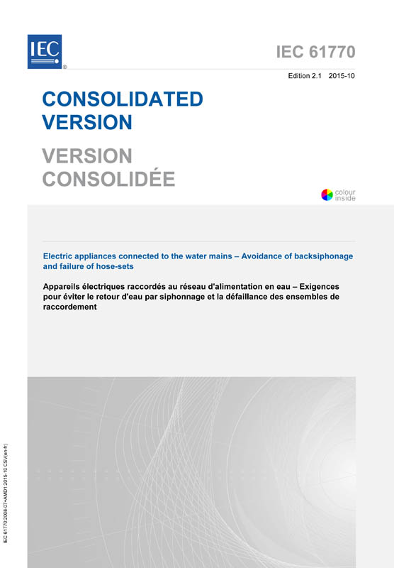 Cover IEC 61770:2008+AMD1:2015 CSV (Consolidated Version)
